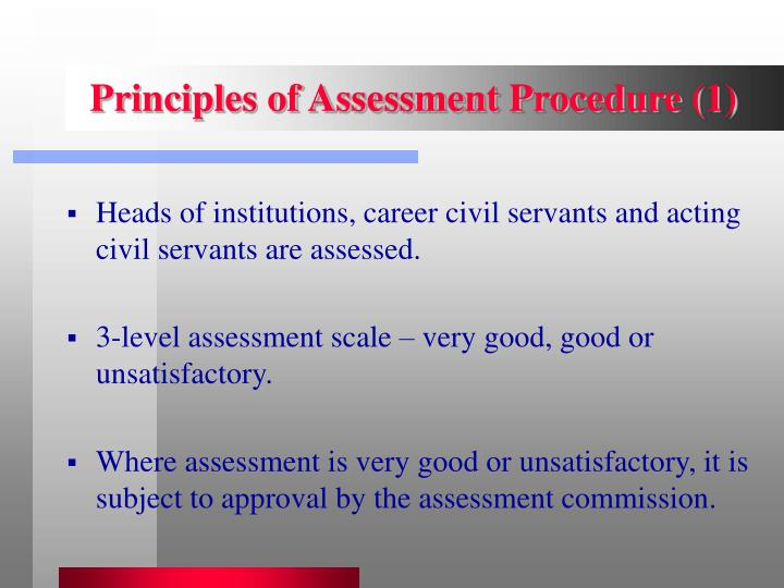 Principles of Assessment Procedure (1)