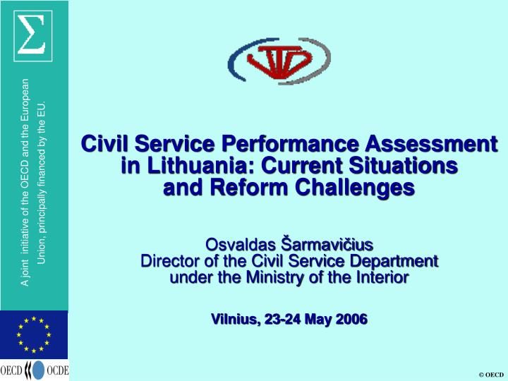 Civil Service Performance Assessment in Lithuania: Current Situations