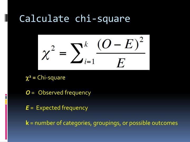 Calculate chi-square