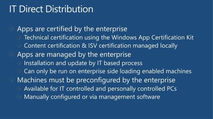 IT Direct Distribution