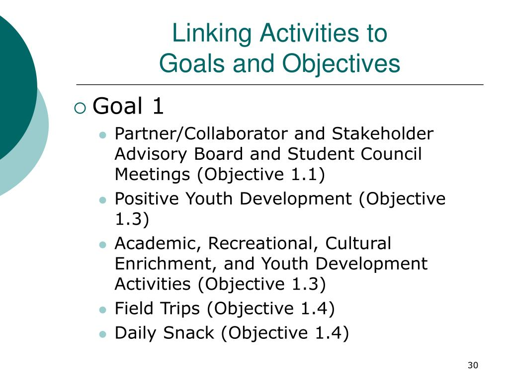 Linking Activities to