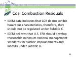 coal combustion residuals