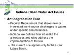 indiana clean water act issues