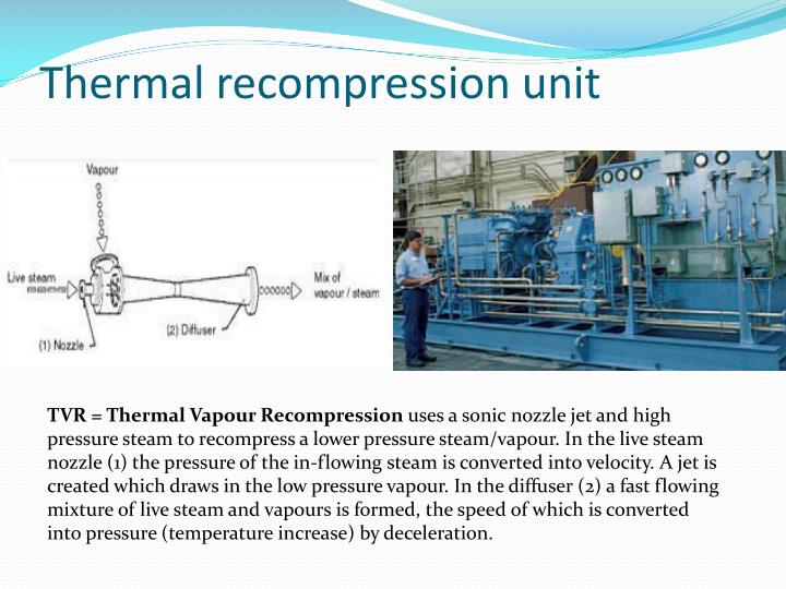 Thermal recompression unit