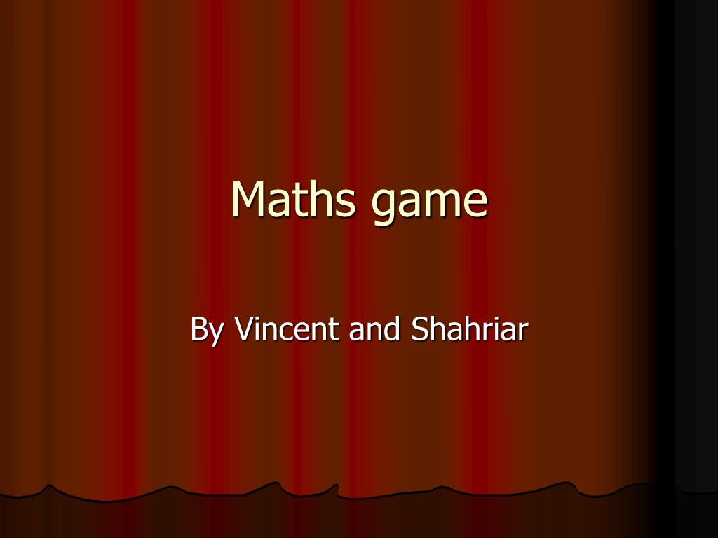 maths game l.