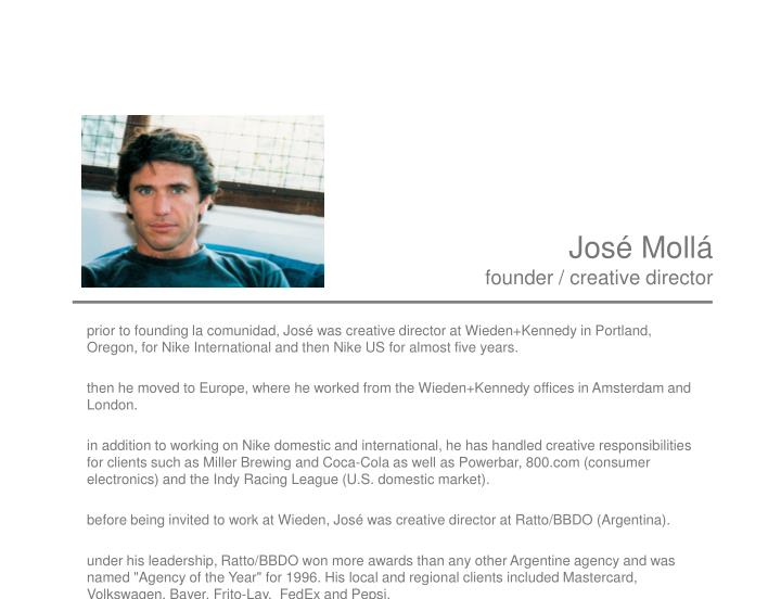 Jos moll founder creative director