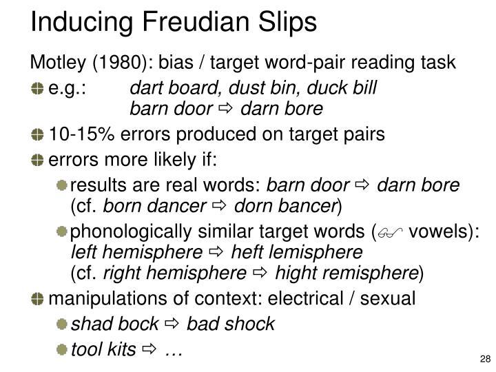 Inducing Freudian Slips