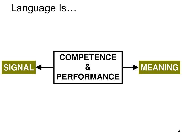 Language Is…
