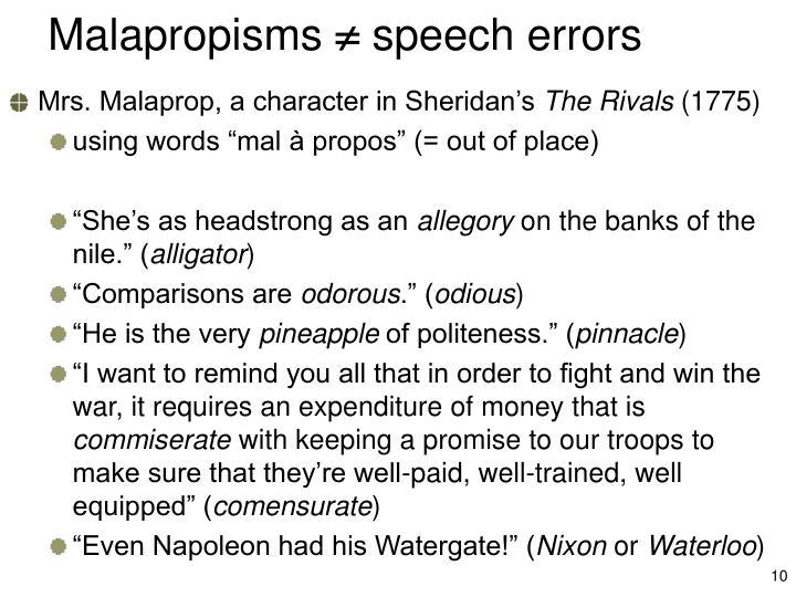 Malapropisms