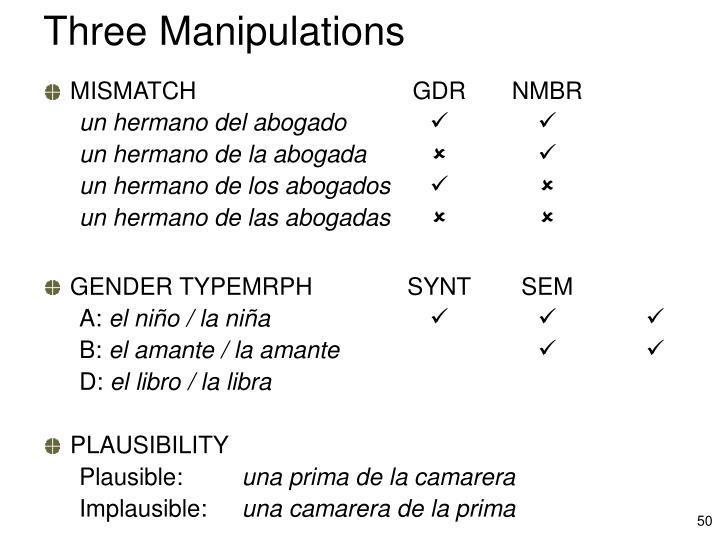 Three Manipulations