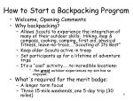 how to start a backpacking program1