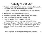 safety first aid