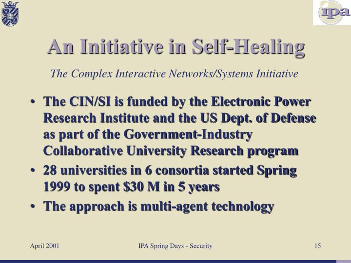 The CIN/SI is funded by the Electronic Power Research Institute and the US Dept. of Defense as part of the Government-Industry Collaborative University Research program
