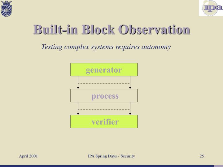 Built-in Block Observation
