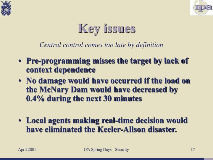 Pre-programming misses the target by lack of context dependence