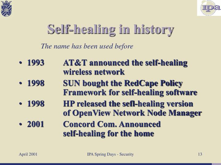 1993AT&T announced the self-healing