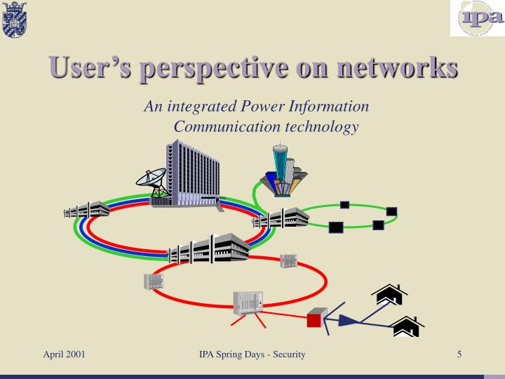 User's perspective on networks