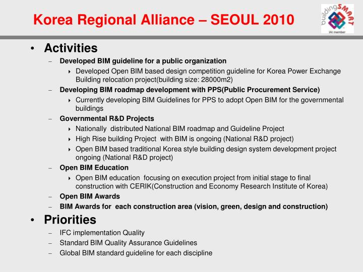 Korea regional alliance seoul 20102