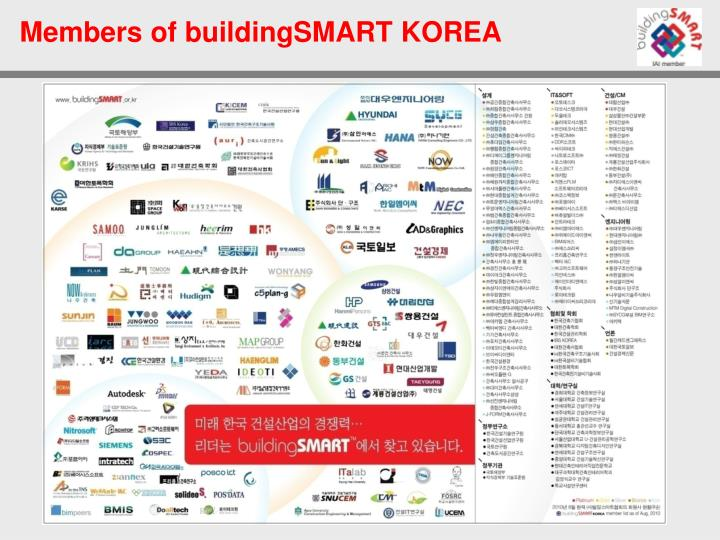 Members of buildingsmart korea