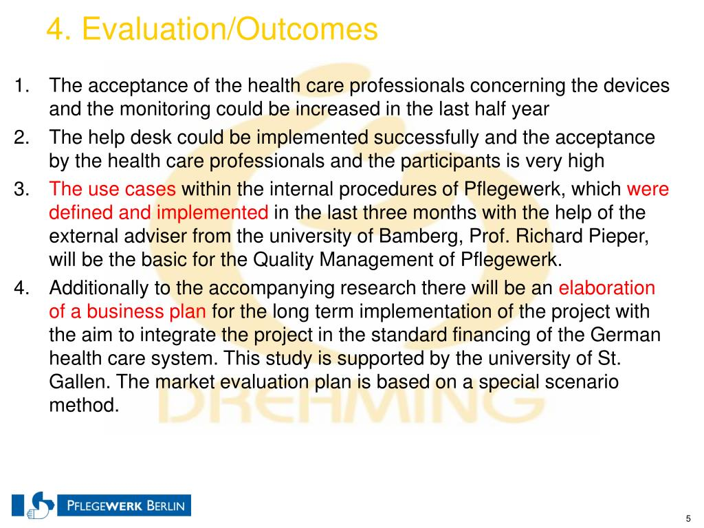 4. Evaluation/Outcomes