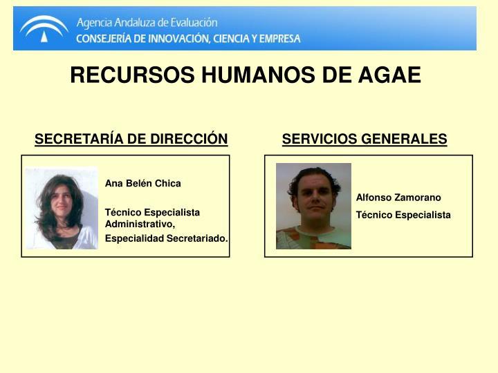RECURSOS HUMANOS DE AGAE