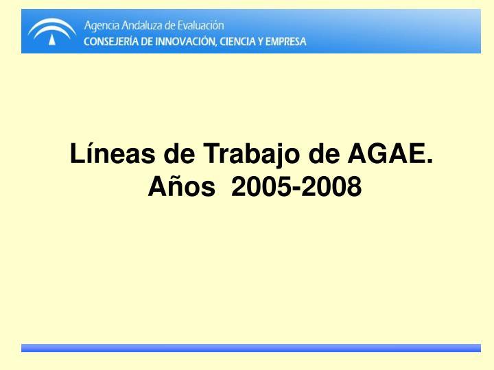 Líneas de Trabajo de AGAE.