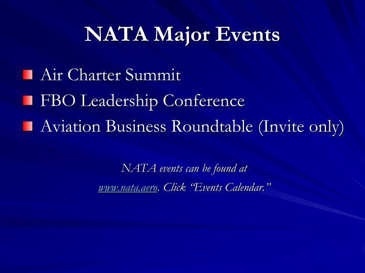 NATA Major Events