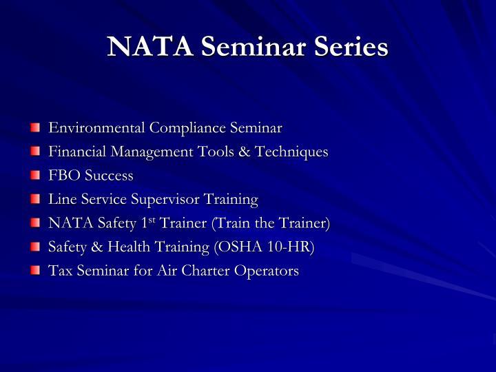 NATA Seminar Series