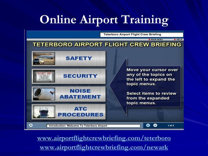 Online Airport Training