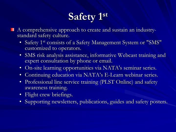 Safety 1 st