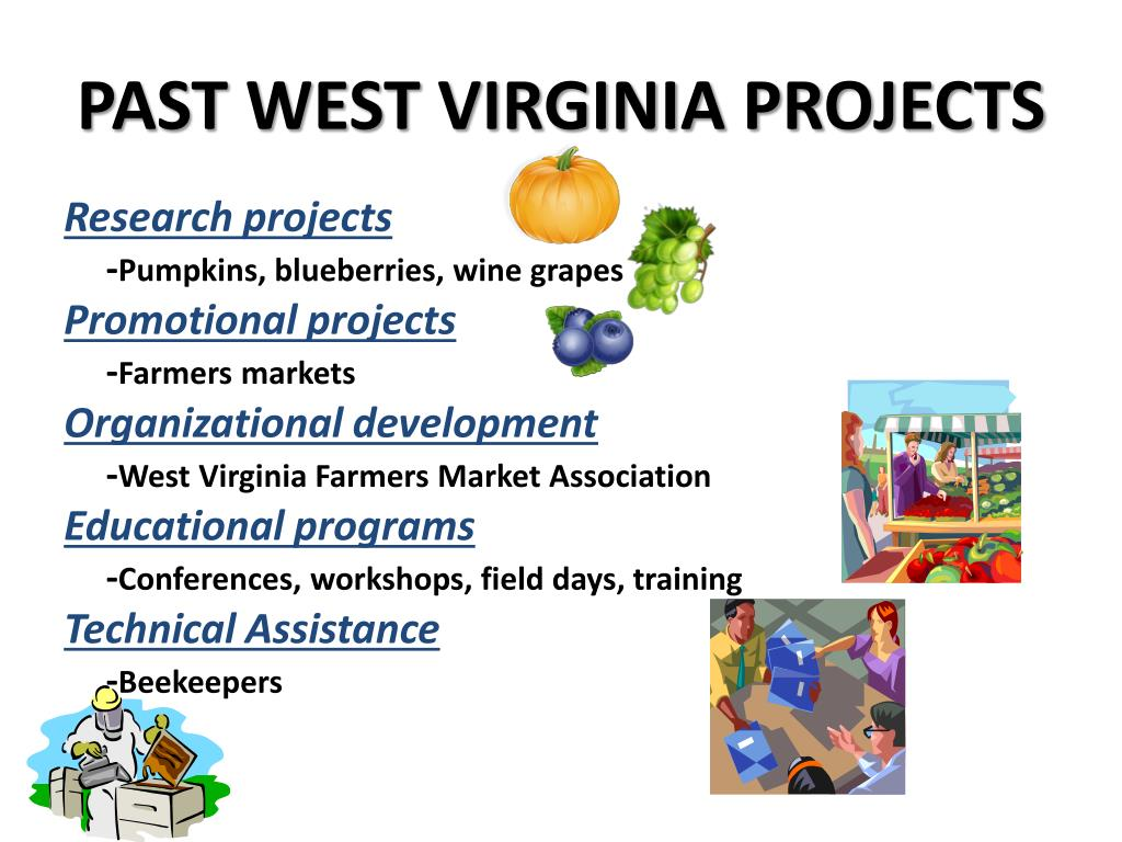 PAST WEST VIRGINIA PROJECTS