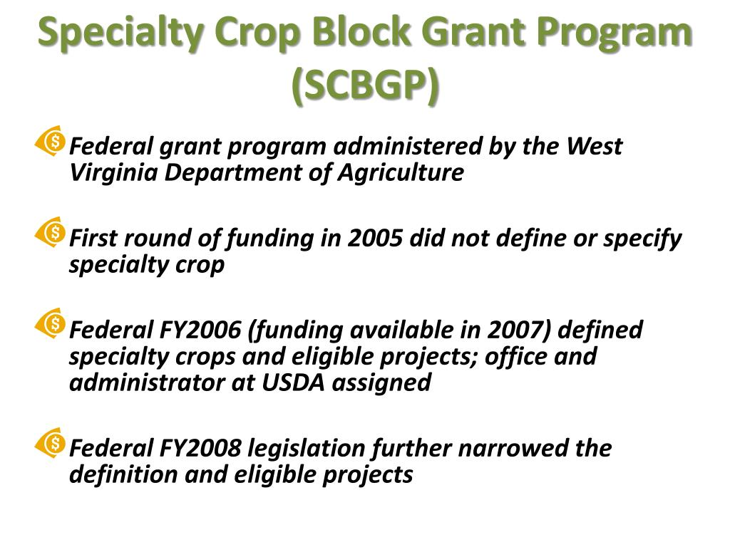Specialty Crop Block Grant Program (SCBGP)