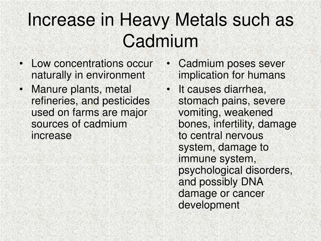Low concentrations occur naturally in environment