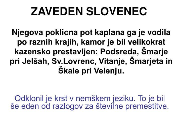 Zaveden slovenec