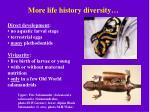 more life history diversity
