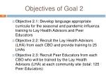 objectives of goal 2