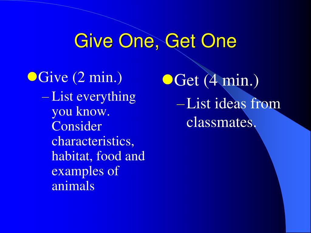 Give (2 min.)