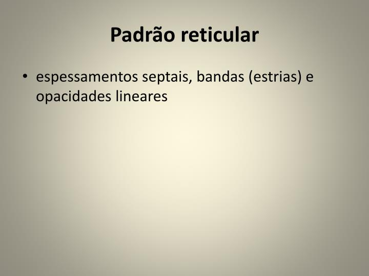 Padrão reticular