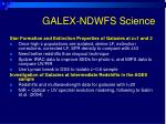 galex ndwfs science