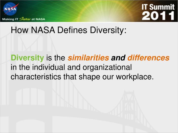 How NASA Defines Diversity: