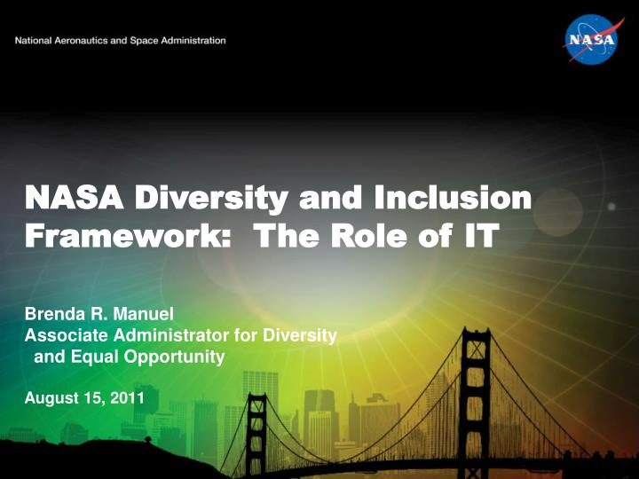 Nasa diversity and inclusion framework the role of it