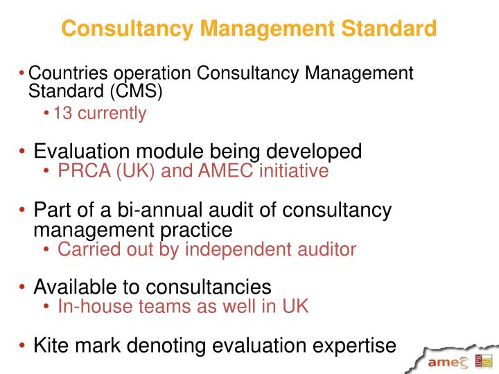 Consultancy Management Standard