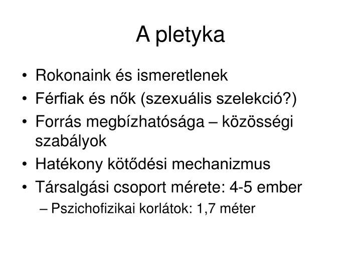 A pletyka