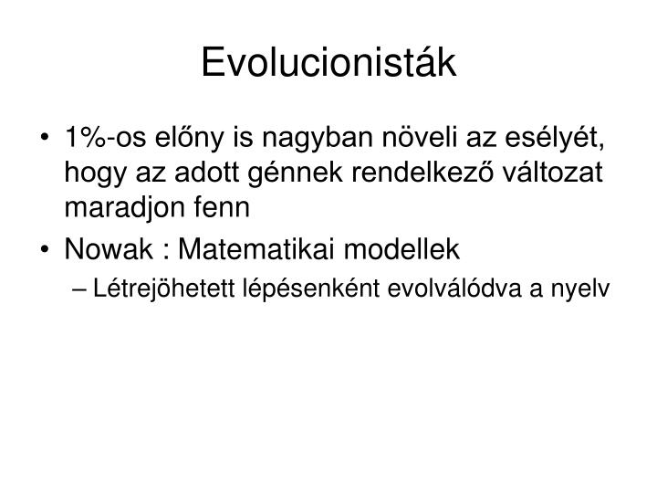 Evolucionisták
