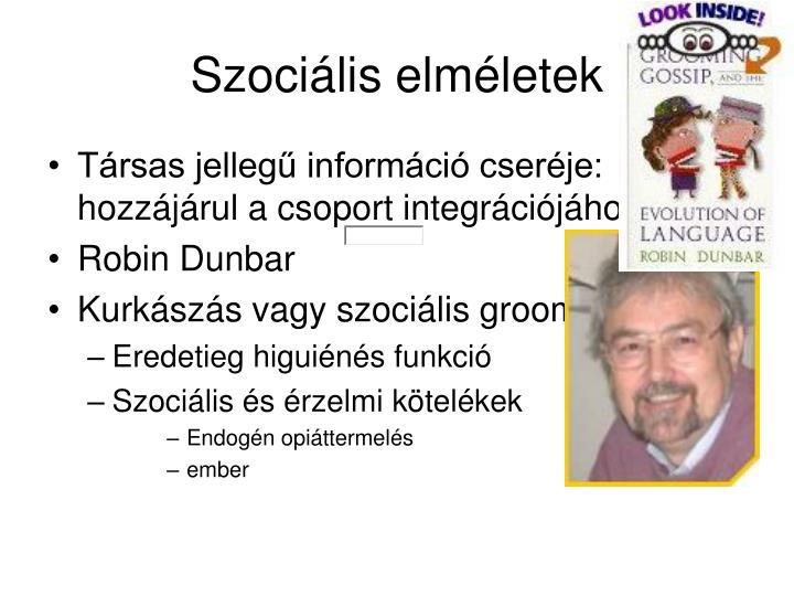 Szociális elméletek