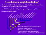 a revolution in amphibian biology