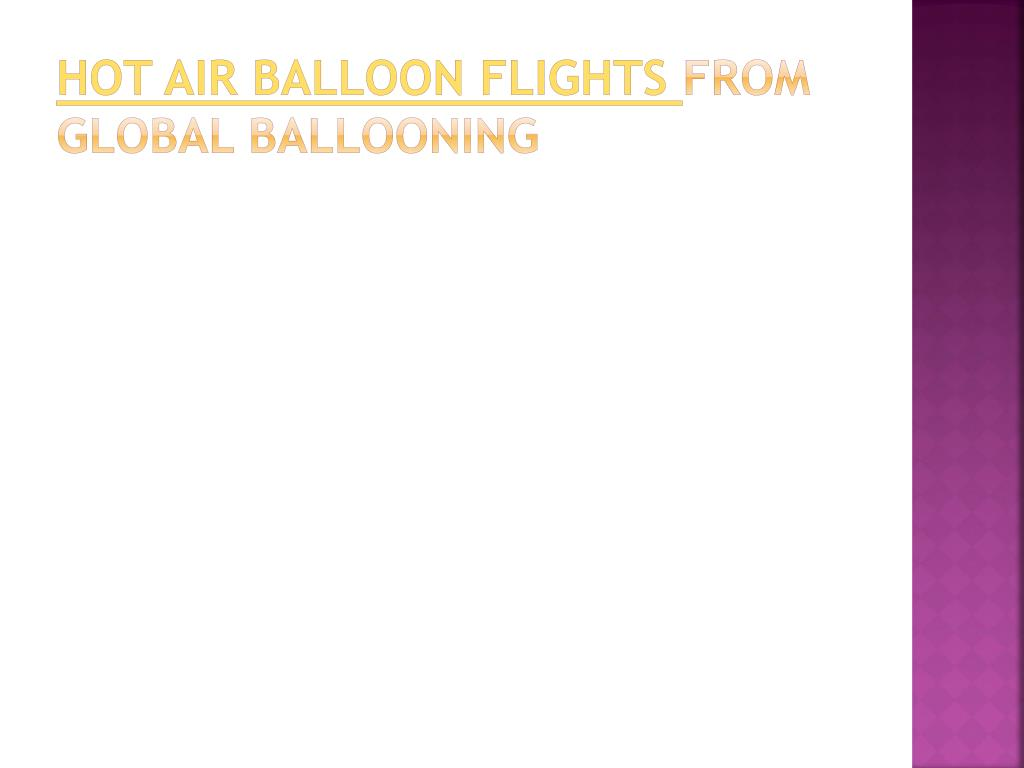 hot air balloon flights from global ballooning l.
