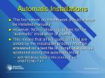 automatic installations