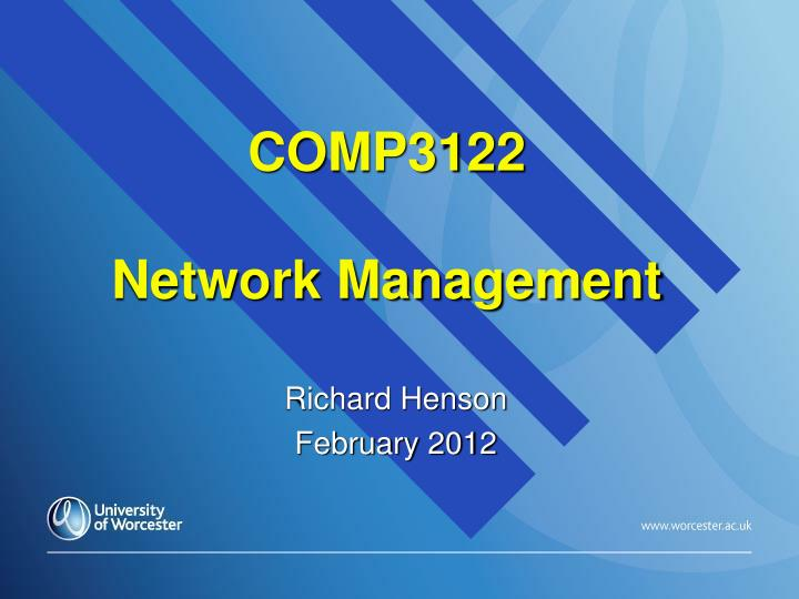 comp3122 network management n.