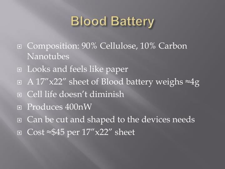 Blood Battery